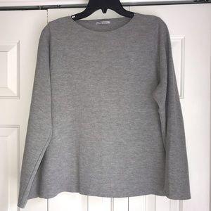 Lightly worn Zara Italy bell sleeved knit shirt!